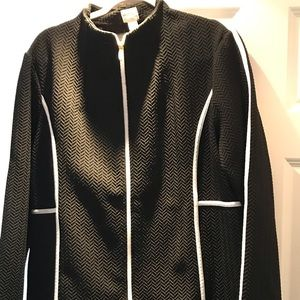 Zenergy by Chicos black and white track suit SZ 3